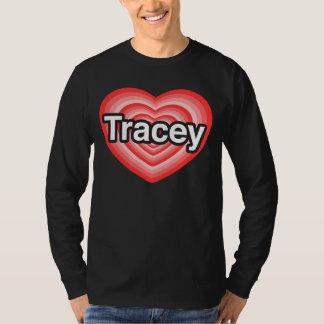 Jag älskar Tracey. Jag älskar dig Tracey. Hjärta Tshirts