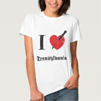 Jag älskar Transylvania (svarten eroderade Tee