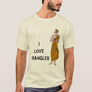 Jag älskar trianglar t shirts