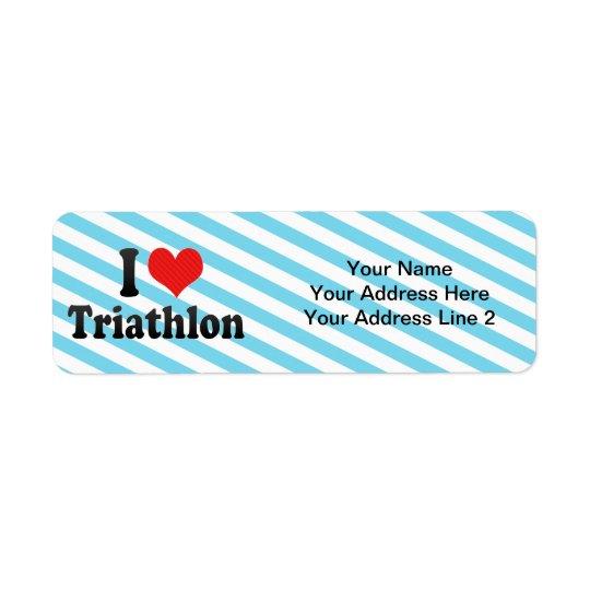 Jag älskar Triathlon Returadress Etikett