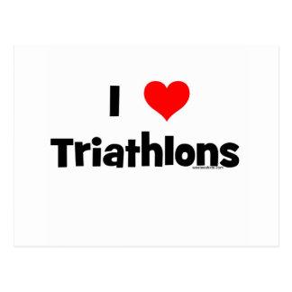 Jag älskar Triathlons Vykort