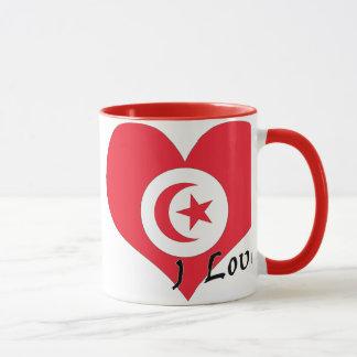 Jag älskar Tunisien Mugg