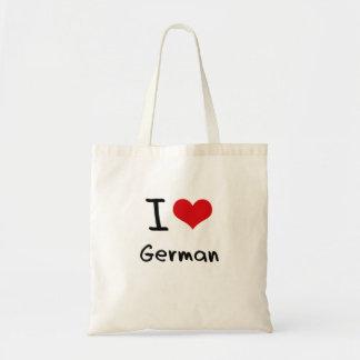 Jag älskar tysk budget tygkasse
