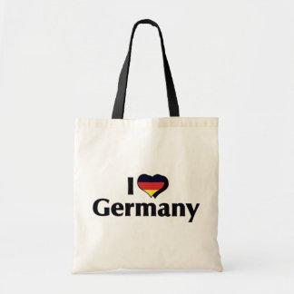 Jag älskar tyskland flagga budget tygkasse