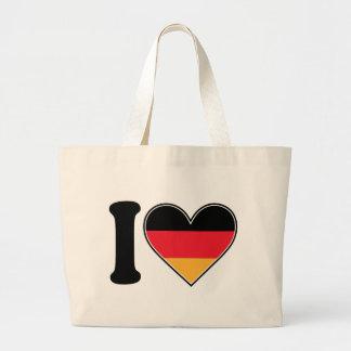 Jag älskar Tyskland Jumbo Tygkasse