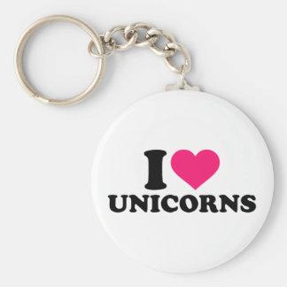 Jag älskar unicorns rund nyckelring