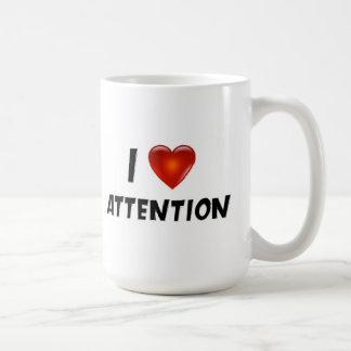 Jag älskar uppmärksamhet kaffemugg