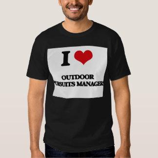 Jag älskar utomhus- jaktchefer t shirt