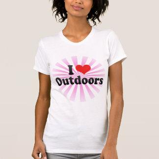 Jag älskar utomhus t shirts