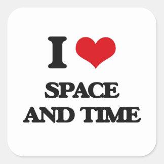 Jag älskar utrymme och tajmar fyrkantigt klistermärke