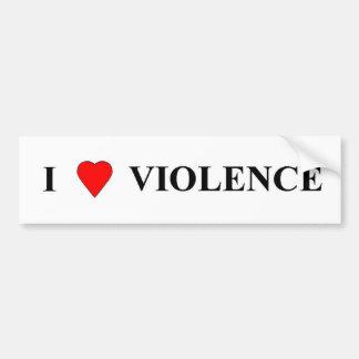 Jag älskar våld bildekal