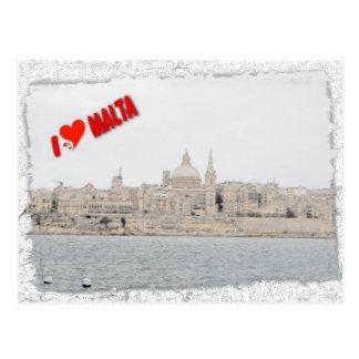 Jag älskar Valletta Vykort