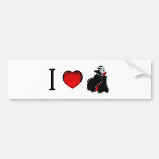 Jag älskar vampyrer bildekal