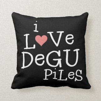 Jag älskar vändbara Degu högar Kudde