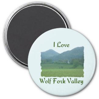 Jag älskar vargen dela sig dalen magnet