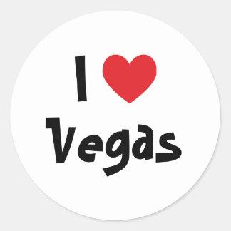 Jag älskar Vegas Runda Klistermärken