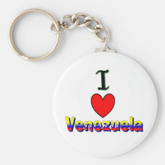 Jag älskar Venezuela Keychain Rund Nyckelring