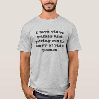 Jag älskar videospel tee shirt