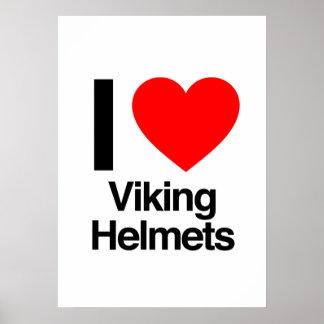 jag älskar viking hjälmar affischer