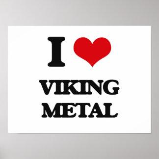 Jag älskar VIKING METALL Affischer