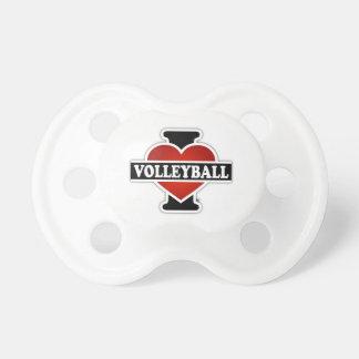 Jag älskar volleyboll napp