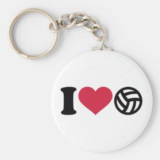 Jag älskar volleybollboll rund nyckelring