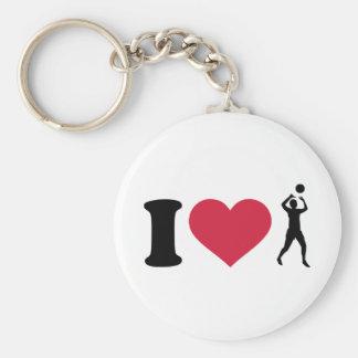 Jag älskar volleybollspelare rund nyckelring