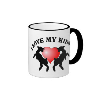 Jag älskar w/Heart min ungar! Mugg