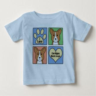 Jag älskar walesiska Corgis för kofta T-shirt