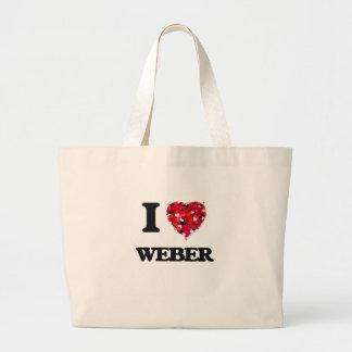 Jag älskar Weber Jumbo Tygkasse