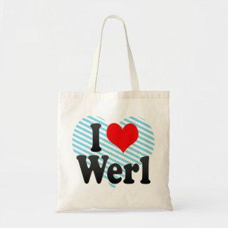 Jag älskar Werl, Tyskland Budget Tygkasse