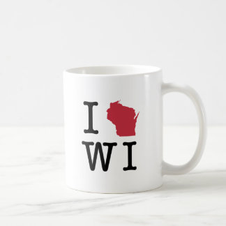 Jag älskar Wisconsin Kaffemugg