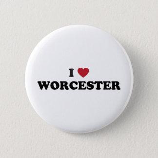 Jag älskar Worcester Massachusetts Standard Knapp Rund 5.7 Cm