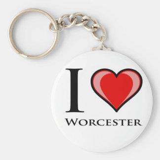Jag älskar Worcester Rund Nyckelring