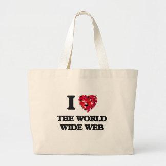 Jag älskar world wide web jumbo tygkasse