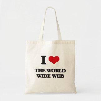 Jag älskar world wide web budget tygkasse