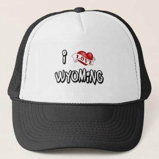 Jag älskar Wyoming Truckerkeps