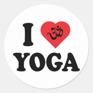 Jag älskar Yoga Runt Klistermärke