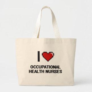 Jag älskar yrkes- vård- sjuksköterskor jumbo tygkasse