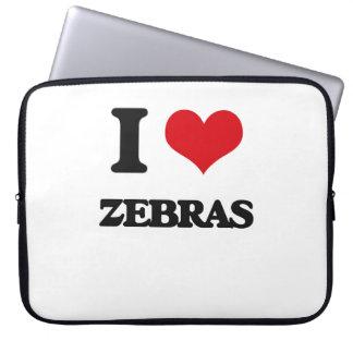 Jag älskar zebror laptopfodral