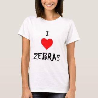 Jag älskar zebror tee shirts