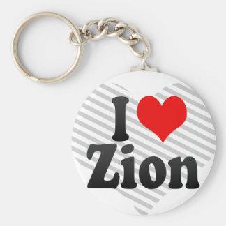 Jag älskar Zion Rund Nyckelring