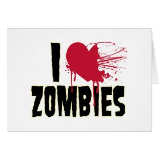 Jag älskar zombies hälsningskort