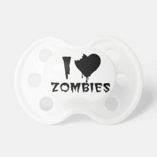 Jag älskar Zombies - humoristisk baby Napp