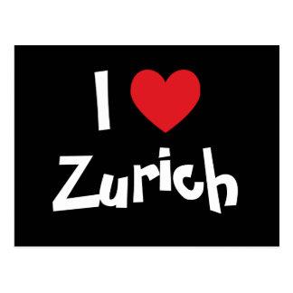 Jag älskar Zurich Vykort