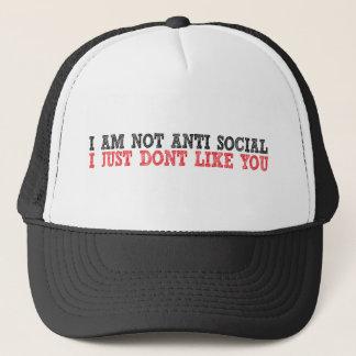Jag Anti social för förmiddagen den inte mig Keps