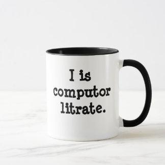 Jag är computorlitrate - den Techie Mugg