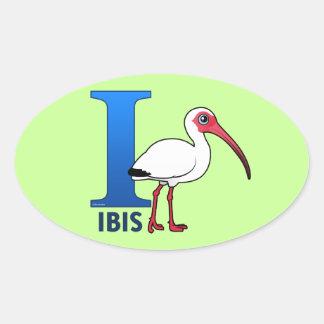 Jag är för Ibis Ovalt Klistermärke