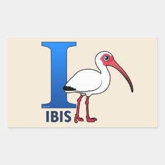 Jag är för Ibis Rektangulärt Klistermärke