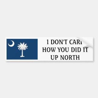 Jag att bry sig inte hur du gör det upp nord-Söder Bildekal